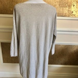 Zara Sweaters - Zara gold and sparkled high low light sweater M